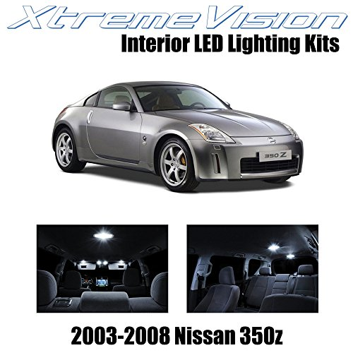 XtremeVision Interior LED for Nissan 350Z 2003-2008 (5 Pieces) Pure White Interior LED Kit + Installation Tool