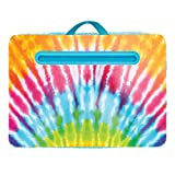 Three Cheers for Girls by Make It Real - Tie Dye Lap Desk - Laptop Desk with Tablet, Phone, or Device Holder - Lap Desk for Kids with Pillow Cushion