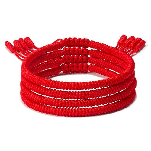ASEWIHA Handmade Tibetan Lucky Red String Bracelets for Protection Womens Lucky Rope Woven Braided Bracelet