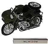Unbekannt IMZ M72 Ural mit Seitenwagen Grün DDR Atlas Collection 1/24 Modellcarsonline Modell...