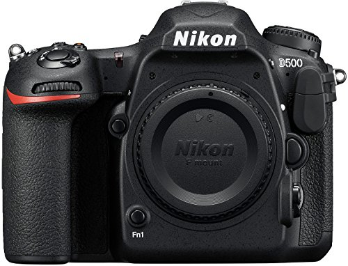 Nikon D500 - Cámara digital (20.9 MP, montura F, 10 fps, 4K), color negro - [Versión...