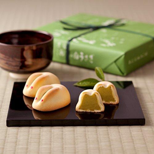 『寿製菓 因幡の白うさぎ 抹茶餡(11ヶ入)』のトップ画像