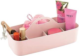 mDesign corbeille de douche avec 11 compartiments – bac de rangement pour douche et salle de bain en plastique – organisat...
