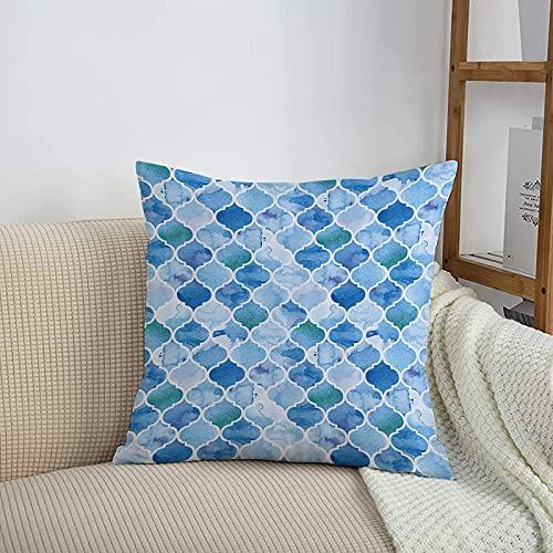 Fundas de cojines sencillas y clásicas de 45 x 45 cm,Patrón de mosaico árabe marroquí, de estilo oriental en pi,ideales para casa, oficina o para la espalda en el coche - Fundas de Poliéster para sofá