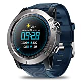 FSM88 Sports Smart Watch, Fitness Bracelet Tracker Heart Rate Monitoring Waterproof Smart Watch IP67 Waterproof Remote Music for iOS & Android,A