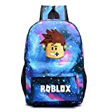 Kids Roblox Backpack Student Bookbag Laptop Bag Travel Computer Bag for Boys Girls