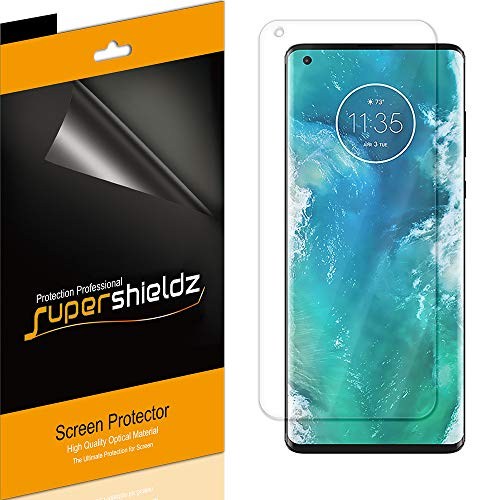 (2 Pack) Supershieldz Designed for Motorola Edge and Edge Plus/Edge+ Screen Protector, (Full Coverage) High Definition Clear Shield (TPU)