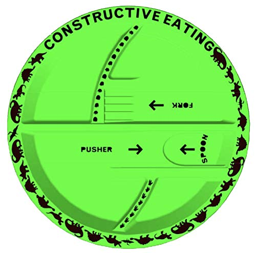 Constructive Eating KC70524 Dinosaur Plate for Toddlers, Infants, Papier
