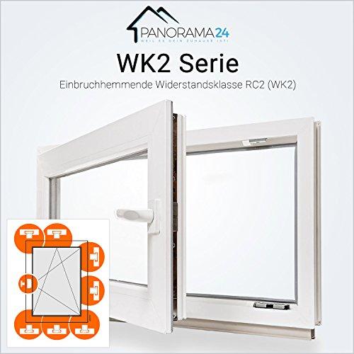 Kellerfenster - Kunststoff - Fenster - weiß - Einbruchhemmend WK2-3-fach-Verglasung - BxH: 120x40 cm - DIN links - 60mm Profil - verschiedene Maße - schneller Versand