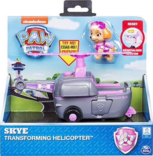 PAW Patrol - Elicottero trasformante Skye con turbine flip-open per bambini dai 3 anni in su.