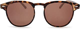 2SeeLife Reading Sunglasses - Retro Style Readers Sun Glasses with Magnified Power Lenses - Vintage Inspired Unique Browline Eyewear for Reading, Working & Travel - Tortoise, 1.00