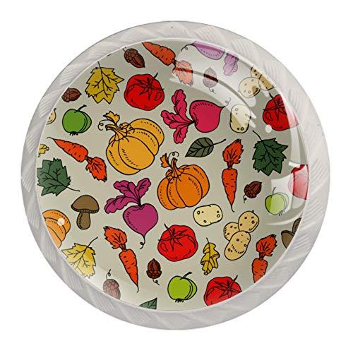 HEOH Tirador de manijas de cajón para el hogar, Cocina, tocador, Armario,Verduras y Setas