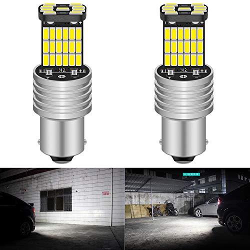 KATUR 2 pz Bianco 850LM 1156 P21W BA15S 4014 45SMD Decoder Lampada Canbus Lampadina Luci di retromarcia Con Resistenza LED Segnali di direzione della lampada