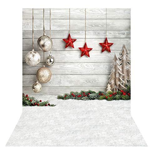 BDDFOTO 1.5 * 2m Weihnachten Fotografie Hintergrund Weihnachten Backdrop für Baby, Neugeborene, Kinder, Objekte Fotografie Video Studio … (03)