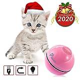 Pidsen Interaktives Katzenspielzeug Ball, katzenspielzeug elektrisch Automatisch Rollender Ball mit LED Licht USB-Aufladung Übungsbälle für Kätzchen Welpen