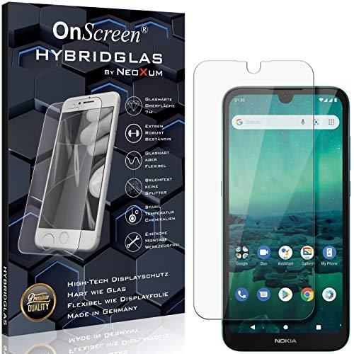 OnScreen Schutzfolie Panzerglas kompatibel mit Nokia 1.3 Panzer-Glas-Folie = biegsames HYBRIDGLAS, Bildschirmschutzfolie, splitterfrei, MATT, Anti-Reflex - entspiegelnd
