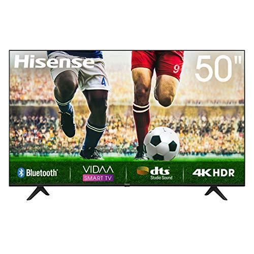 50 Zoll Hisense 50A7100F, 4K HDR Ultra HD-Fernseher, DTS-So&, DLED-Hintergr&beleuchtung, Panel-Bittiefe 8 Bit + FRC, Eingangsverzögerung <20 ms, VIDAA U Smart TV-Betriebssystem