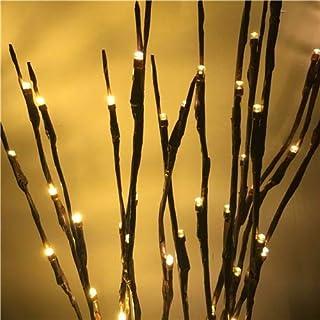 مصابيح على شكل سيقان شجر مناسبة لتزيين غرف الجلوس والنوم والحفلات، 20 مصباح ليد