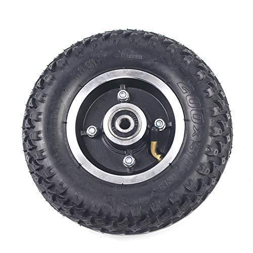 200x50 Innenaußenreifen mit Nabe Vollrad 8X2 Luftreifen für Elektroroller Rollstuhl LKW Wagen Wagen Teile, Ersatzräder, Elektroroller Reifen Zubehör
