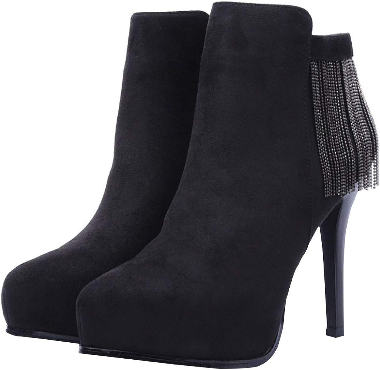Stiefel Stiefeletten Stiefel Stiefeletten Damen Herbst Und Und Und Winter Mode Fransen Martin Stiefel High Heel Stiefel  ab1a95