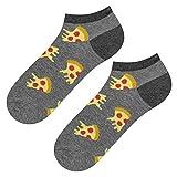 soxo Herren Bunte Pizza Sneaker Socken | Größe 40 – 45 | aus Baumwolle | Lustige Geschenk für Frauen & Männer