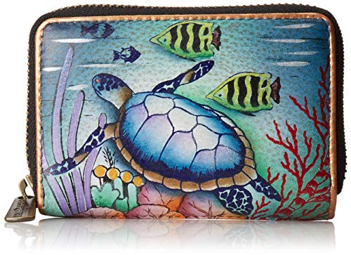 Anuschka Women's Credit and Business Card Holder, Ocean Treasures, One Size
