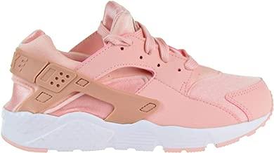 Nike 859591-604: Girls Huarache Run Storm Pink/Rust Pink-White Sneakers