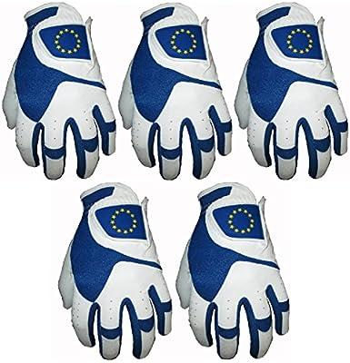 5 Cabretta-Golf-Handschuhe Leder Handflächen
