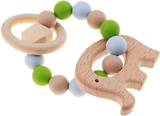 木+シリコーン製 歯固め 看護ブレスレット 授乳ジュエリー はがため プレゼント 出産祝い 全6種 - スタイル1