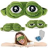 SwirlColor Schlafmaske Augenbinde Augenklappe Kreative Cartoon Frosch Augenmaske Augenabdeckung Flaum Cute Augenmaske (1 Stück)