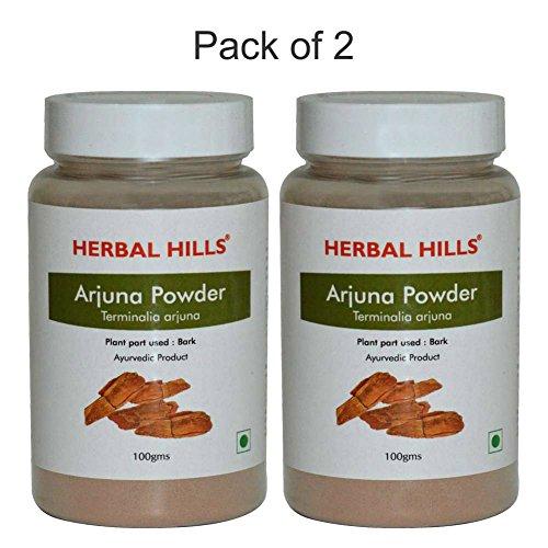 Herbal Hills Arjuna Pulver - 100 g (2er Pack) -Terminalia arjuna