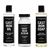 Caron & Doucet - Ultimate Cast Iron Set: Seasoning Oil, Cleaning Soap & Restoring Scrub | 100%...