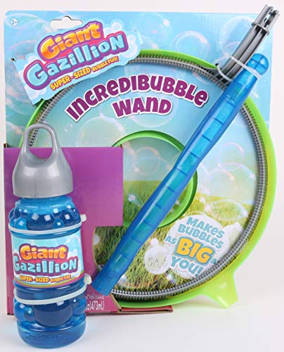 Gazillion Incredibubble Wand (Blue/Green) Bubbles, Blue/Green