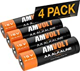 AA Batteries [9 Years] Premium LR6 Alkaline Battery 1.5 Volt Non Rechargeable Batteries for Watches Clocks Remotes Games Controllers Toys & Electronic Devices - 2027 Expiry Date (4 Pack)