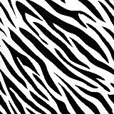 Alfombra de Vinilo Animal Print Cebra 75x120 cm Alfombra Juvenil Estampada Dormitorio Escritorio Salón Pasillo y Cocina Alfombra PVC Lavable Antideslizante