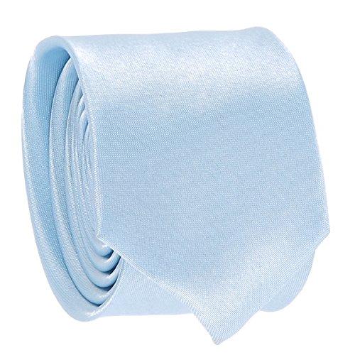 Cravate Fine Bleu ciel - Cravate Homme Coupe Slim Moderne - 5cm à la Pointe - Couleur Unie - Accessoire Chemise pour Mariage, Cérémonie