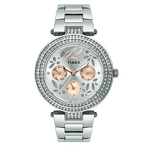 Timex - Reloj analógico para Mujer, Esfera marrón, Reloj TWEL12001