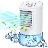 Portable Air Conditioner Fan, Evaporative Air Cooler, 3-in-1 Portable Air Cooler, 3 Speeds & 2/4H Timer Cooling Fan Portable for Home, Office, Bedroom, Travel