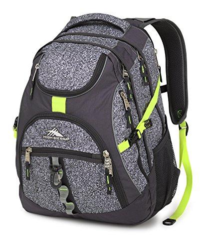 High Sierra Access Laptop Backpack, Static/Mercury/Zest, 20 x 15 x 9.5-Inch