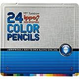 トンボ鉛筆 色鉛筆 ippo! スライド缶 24色 CL-RRM0224C プリントM
