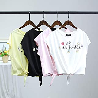 VM 2018春装新款女装 卡通印花纯棉韩版宽松女士T恤一件代销