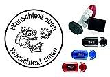 Taucherstempel « TAUCHER 02 » mit persönlichem Namen & Tauchspruch - Abdruckgröße ca. Ø 24 mm...