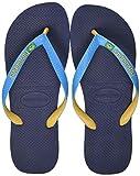 Havaianas Brasil Mix, Flip-Flop Unisex-Adulto, Navu Blue Turquoise Burned Yellow, 39/40