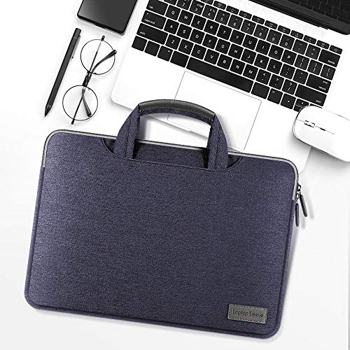 KOLIU Laptop Sleeve Case 14/15./15.6 Inch Notebook Travel Carrying Bag Waterproof Protective Cover For Macbook Air Pro 13 15 (Color : Blue, Size : 13-14 inch)