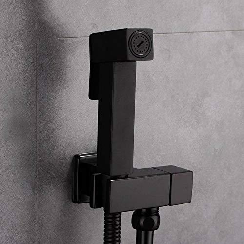 Bhpojdl Handheld Bidet Toilet Sprayer,for Black Square Shower Unique Connection Hose,Premium Stainless Steel Best for Cloth Diaper Sprayer,Hand Held Bidet for Shattaf Shower