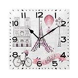 Elegante y romántico Reloj de Pared Cuadrado con diseño de