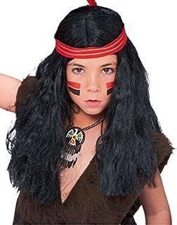 インディアン ネイティブアメリカン ウィッグ、かつら ブラック 子供(男児)用