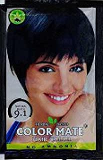 Herbal Based Henna Exports Color Mate Hair Color (Black ) ( 9.1) 15g With 1 Hair Dye Brush Free ( pack of 5 )