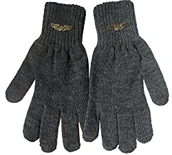 Gajraj Mens Gloves (GHF51_Dark Grey)