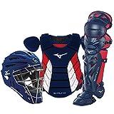 "Mizuno Samurai Youth Baseball Boxed Catcher's Gear Set, Navy-Red, 14"" Youth Boys"